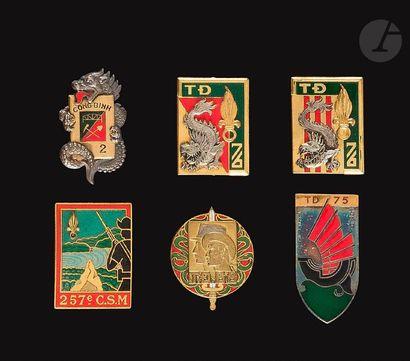 6 insignes supplétifs vietnamiens - Légion...
