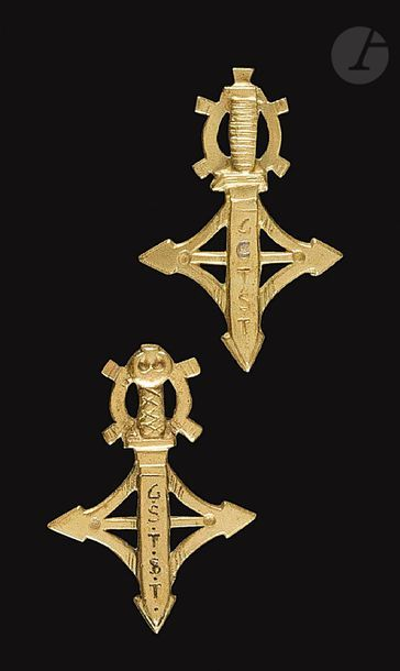 2 insignes Commandos du Sud-Tunisien GCTST...