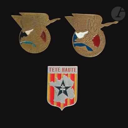 3 insignes - 2x Corps Francs d'Afrique (Grazziani...