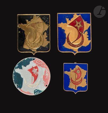 4 insignes du Groupe Commandos d'Afrique...