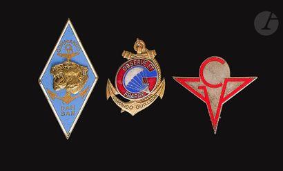 3 insignes Commandos AFN - GCP, Commando...