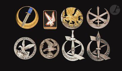 8 insignes - Commandos X10, Cdo 12, Cdo 45...