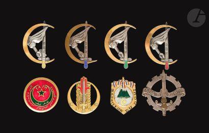 8 insignes - Commando 504e BT, CIPCG, Bataillon...