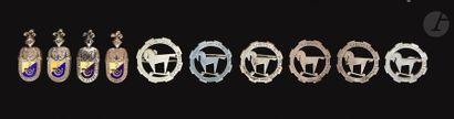 10 insignes Chasseurs d'Afrique - 6x 1er...