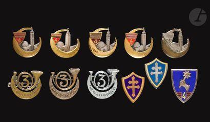 11 insignes 3e et 4e RCA - 3x 3e (Abpd, Dr...
