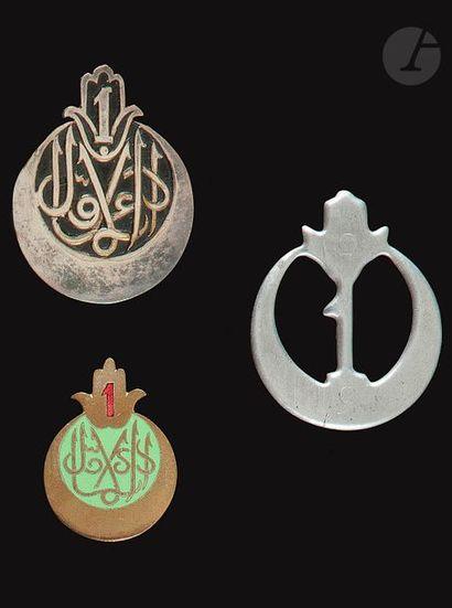 3 insignes - 1er RTA AFN, Grazziani et F...