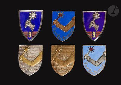6 insignes du 9e RCA - 2x Drago Ber (1 en...