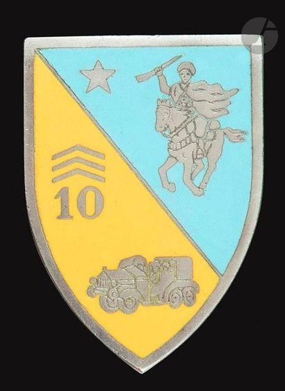 Insigne du 10e Groupe Autonome porté de Chasseurs...