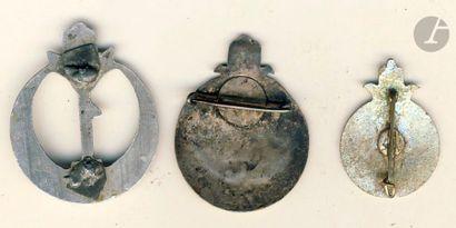 3 insignes - 1er RTA AFN, Grazziani et Fraisse-Demey.