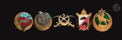 5 insignes - 3x 2e RSA (type 1 (Dr Ber),...