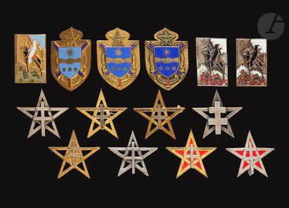 14 insignes - 10x 1er RSM (3x Dr Ber variantes,...