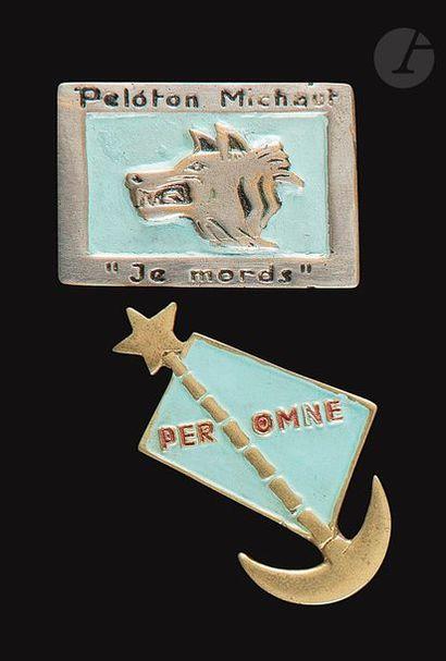 2 insignes du RMSMEO en fabrication artisanale...