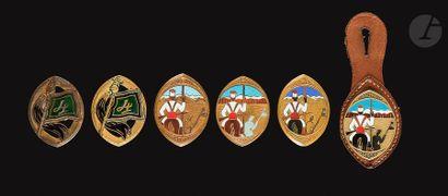 6 insignes du 4e RSM - Cartier Paris sur...