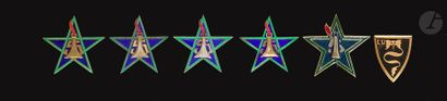 6 insignes - 5x 5e RSM Dr Be (2x Dom (un...
