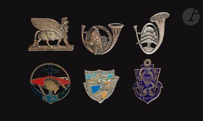 6 insignes du Levant - 1eret 2e (Abpd), 3eBCL...