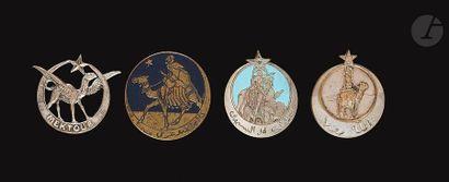 4 insignes de Compagnies Méharistes du Levant...