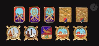 10 insignes RAA- 6x 62e RAA (2x Dr Ber,...