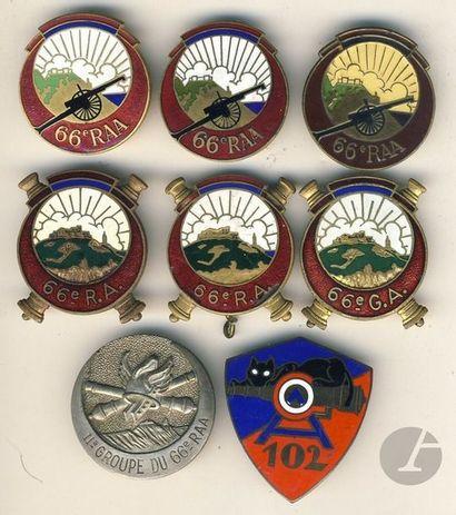 8 insignes- 6 insignes 66e RAA (Abpd, Dr...