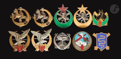 10 insignes Artillerie - 2x 20e RANA (Abpd),...