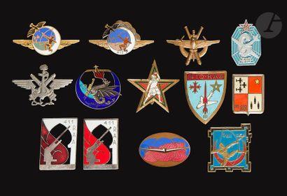 13 insignes - RAA/DCA- Cdt Sup Air AFN (Augis),...