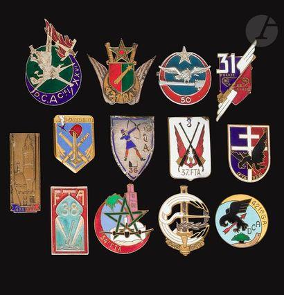 13 insignes - DCA/FTA 421e GADCA (Augis),...