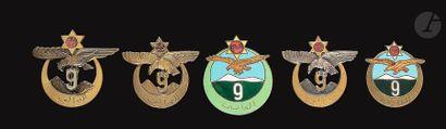 5 insignes 9e RTA - 2x 1er modèle Chobillon,...