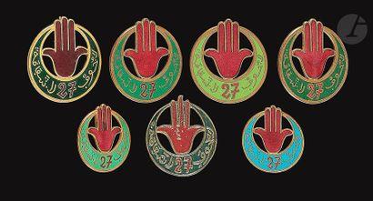 7 insignes du 27e RTA - 2 petits modèles...