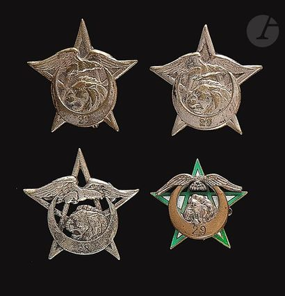 4 insignes 29e RTA - Abpd, Dr Ber, DP, sans...