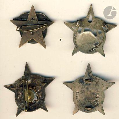 4 insignes 29e RTA - Abpd, Dr Ber, DP, sans [ANC].
