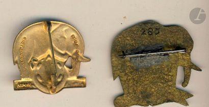 2 insignes - BM en EO 4e RTT Drago Ber et artisanale (numérotée 285).