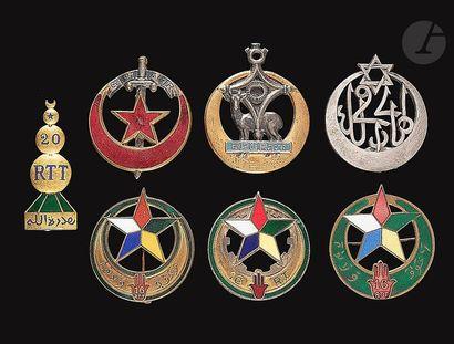 Lot de 7 insignes – 3x 16e RTT (Delande,...