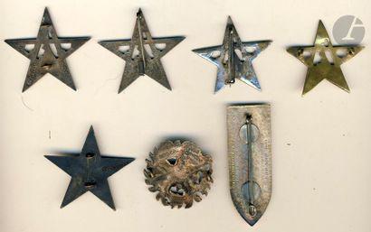 7 insignes – 4x 4e RTM (1 en argent 2 artisanales), 1er et 2e Bn en EO, 2e DRRA...