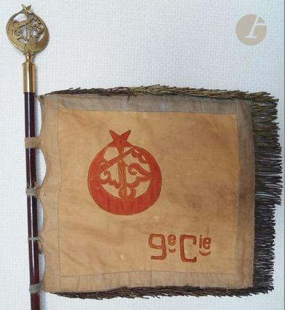Fanion de la 9e Compagnie du 3e Régiment de Tirailleurs Algériens sans les franges...
