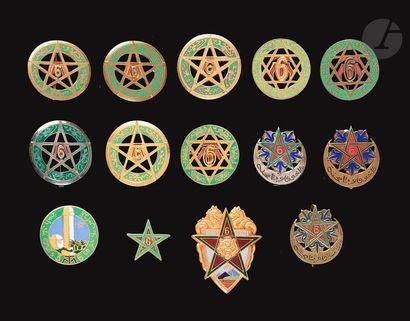 14 insignes du 6e RTM dont 3e Bn Zoubida...