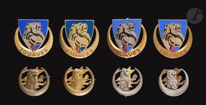 8 insignes 4e Zouaves dont surmoulage d'...