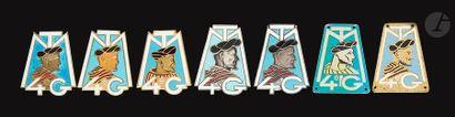 6 insignes - 2x 4e GTM (locale d'Allemagne,...