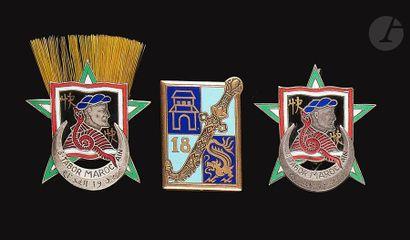 3 insignes 2x 8e Tabor en EO (1 avec aigrette)...