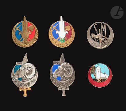 6 insignes de Pionniers - 2x 201e (Drago...