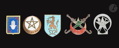 5 insignes de pionniers 202e[AC], 203e (Dr...