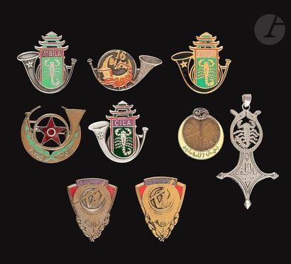 9 insignes - 1ère 1/2 Brigade ILA sans [AC],...
