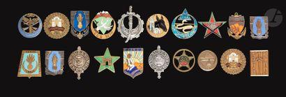 20 insignes dont Cherchell (argent) CI 19e...