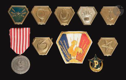 10 insignes du CEF en Italie dont unités...