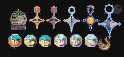 13 insignes sahariens - 2x Cie Sah du Sud-Tripolitain...