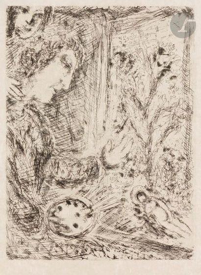 Marc CHAGALL (1887-1985) Autoportrait à la...