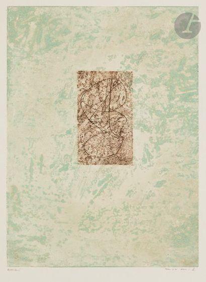 Max ERNST (1891-1976) Zodiaque, 1971 Eau-forte...