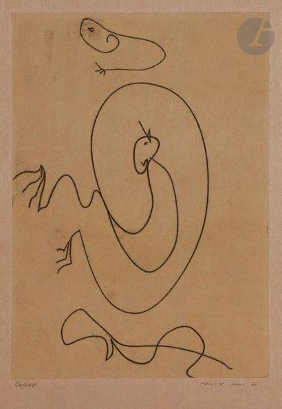 Max ERNST (1891-1976) Sans titre, 1972 Eau-forte....