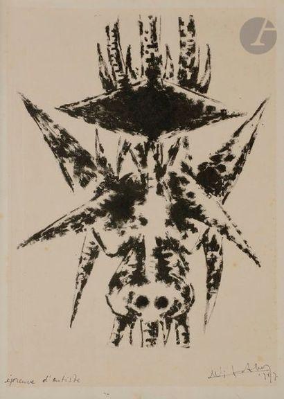 Wifredo LAM [cubain] (1902-1982) Sans titre,...