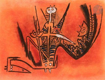 Wifredo LAM [cubain] (1902-1982) Montée des...