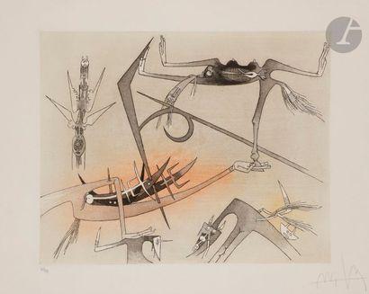 Wifredo LAM [cubain] (1902-1982) Pl. I pour...