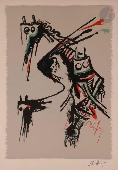 Wifredo LAM [cubain] (1902-1982) Sans titre...